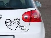 Dejte samolepkou najevo, že máte dítě v autě