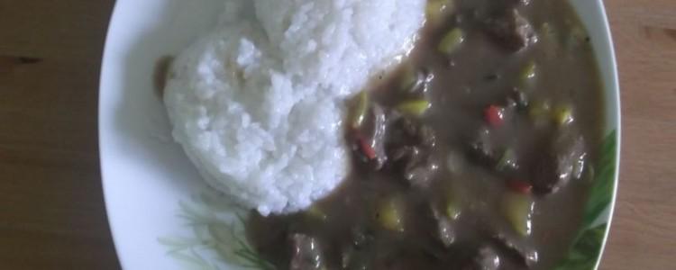 Hovězí s rýží